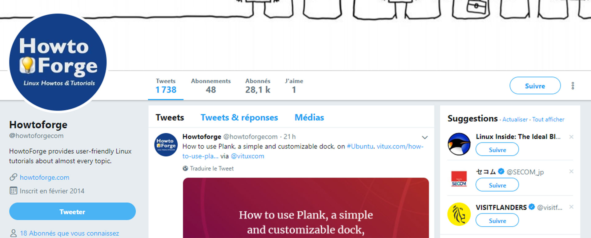 Compte twitter How to forge