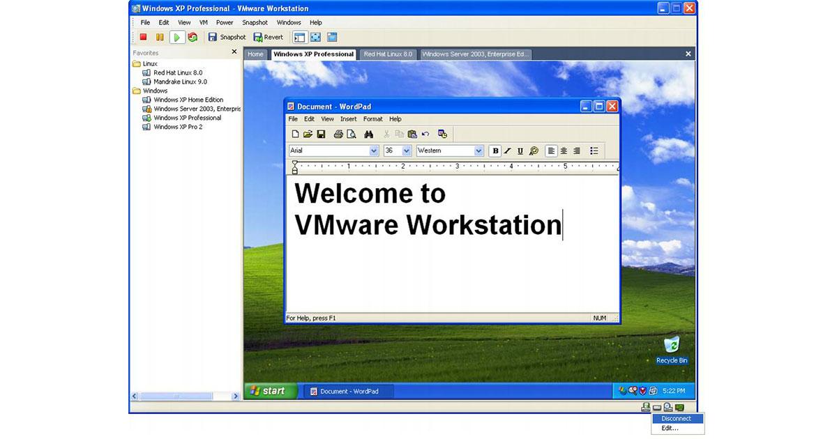 VMware machine virtuelle