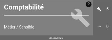 "Service Weather : The ""Comptabilité"" tile is still undergoing maintenance"