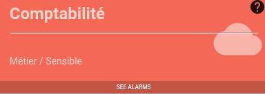 Météo des services : répercussion de l'activation de l'alarme sur la tuile